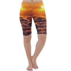 SUNSET OVER CLOUDS Cropped Leggings