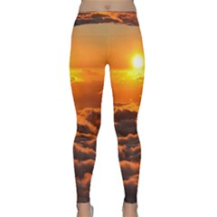 SUNSET OVER CLOUDS Yoga Leggings