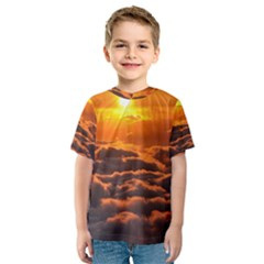 SUNSET OVER CLOUDS Kid s Sport Mesh Tees