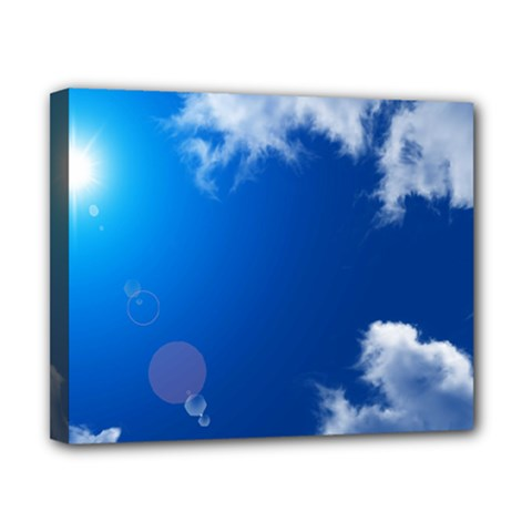 SUN SKY AND CLOUDS Canvas 10  x 8
