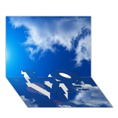 SUN SKY AND CLOUDS LOVE Bottom 3D Greeting Card (7x5)