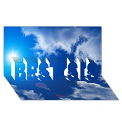 SUN SKY AND CLOUDS BEST SIS 3D Greeting Card (8x4)
