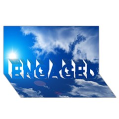 Sun Sky And Clouds Engaged 3d Greeting Card (8x4)