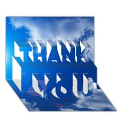 SUN SKY AND CLOUDS THANK YOU 3D Greeting Card (7x5)