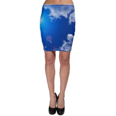 SUN SKY AND CLOUDS Bodycon Skirts