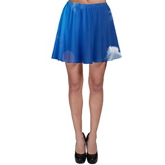 Sun Sky And Clouds Skater Skirts