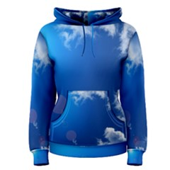 SUN SKY AND CLOUDS Women s Pullover Hoodies