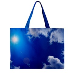 SUN SKY AND CLOUDS Zipper Tiny Tote Bags