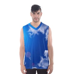 Sun Sky And Clouds Men s Basketball Tank Top
