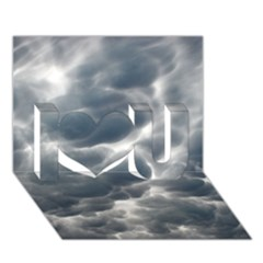 Storm Clouds 2 I Love You 3d Greeting Card (7x5)
