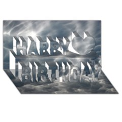 STORM CLOUDS 2 Happy Birthday 3D Greeting Card (8x4)