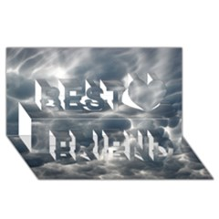 STORM CLOUDS 2 Best Friends 3D Greeting Card (8x4)