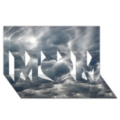 Storm Clouds 2 Mom 3d Greeting Card (8x4)