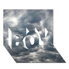 STORM CLOUDS 2 BOY 3D Greeting Card (7x5)
