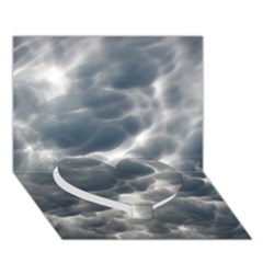 STORM CLOUDS 2 Heart Bottom 3D Greeting Card (7x5)