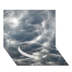 STORM CLOUDS 2 Circle Bottom 3D Greeting Card (7x5)