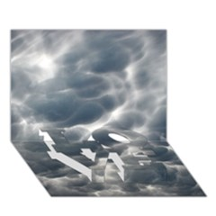 STORM CLOUDS 2 LOVE Bottom 3D Greeting Card (7x5)