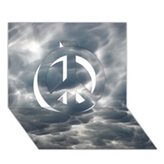 STORM CLOUDS 2 Peace Sign 3D Greeting Card (7x5)