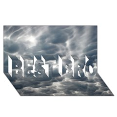STORM CLOUDS 2 BEST BRO 3D Greeting Card (8x4)