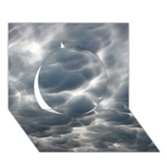 Storm Clouds 2 Circle 3d Greeting Card (7x5)