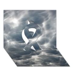 STORM CLOUDS 2 Ribbon 3D Greeting Card (7x5)
