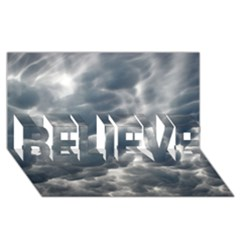Storm Clouds 2 Believe 3d Greeting Card (8x4)