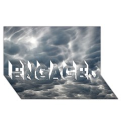STORM CLOUDS 2 ENGAGED 3D Greeting Card (8x4)