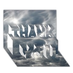 Storm Clouds 2 Thank You 3d Greeting Card (7x5)