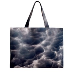 Storm Clouds 2 Zipper Tiny Tote Bags
