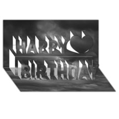 Storm Clouds 1 Happy Birthday 3d Greeting Card (8x4)