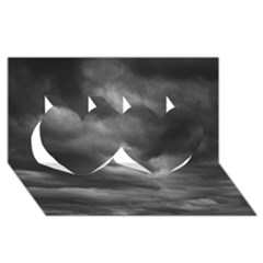 STORM CLOUDS 1 Twin Hearts 3D Greeting Card (8x4)