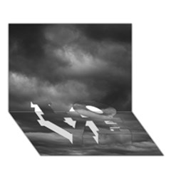 Storm Clouds 1 Love Bottom 3d Greeting Card (7x5)