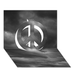 STORM CLOUDS 1 Peace Sign 3D Greeting Card (7x5)