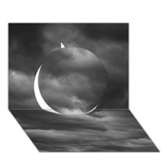 Storm Clouds 1 Circle 3d Greeting Card (7x5)