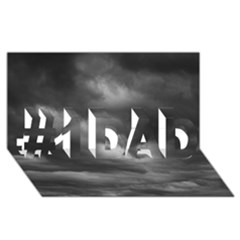 STORM CLOUDS 1 #1 DAD 3D Greeting Card (8x4)