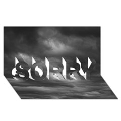 STORM CLOUDS 1 SORRY 3D Greeting Card (8x4)