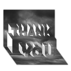 Storm Clouds 1 Thank You 3d Greeting Card (7x5)