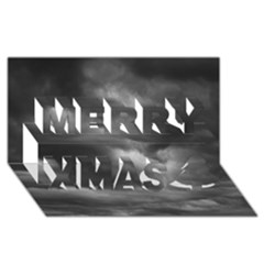 STORM CLOUDS 1 Merry Xmas 3D Greeting Card (8x4)