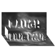 Storm Clouds 1 Laugh Live Love 3d Greeting Card (8x4)