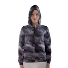 STORM CLOUDS 1 Hooded Wind Breaker (Women)