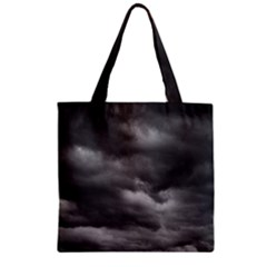 Storm Clouds 1 Zipper Grocery Tote Bags