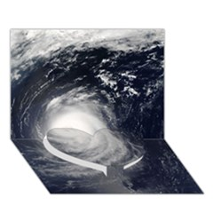 Hurricane Irene Heart Bottom 3d Greeting Card (7x5)