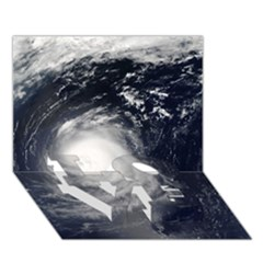 HURRICANE IRENE LOVE Bottom 3D Greeting Card (7x5)
