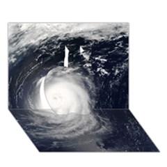 Hurricane Irene Apple 3d Greeting Card (7x5)