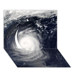 HURRICANE IRENE Circle 3D Greeting Card (7x5)