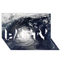 Hurricane Irene Party 3d Greeting Card (8x4)