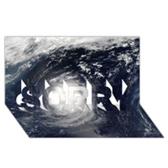 HURRICANE IRENE SORRY 3D Greeting Card (8x4)