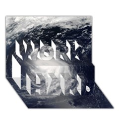 HURRICANE IRENE WORK HARD 3D Greeting Card (7x5)