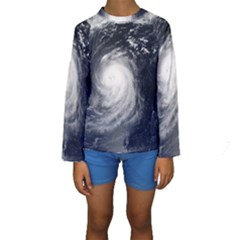 HURRICANE IRENE Kid s Long Sleeve Swimwear
