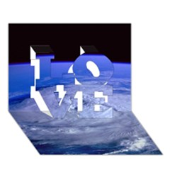 HURRICANE ELENA LOVE 3D Greeting Card (7x5)